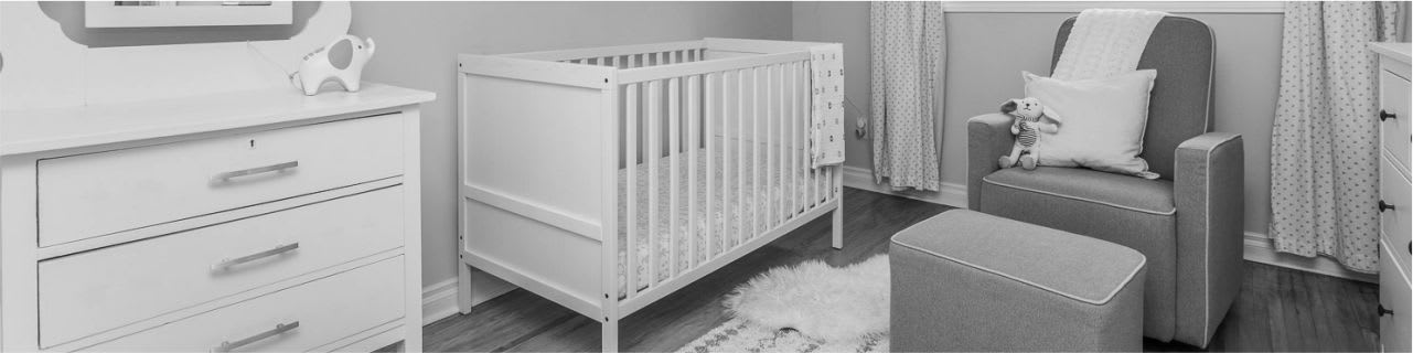 child's room staged - baby