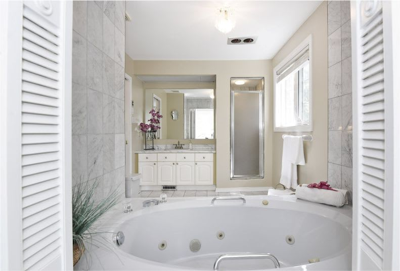 staged bath area